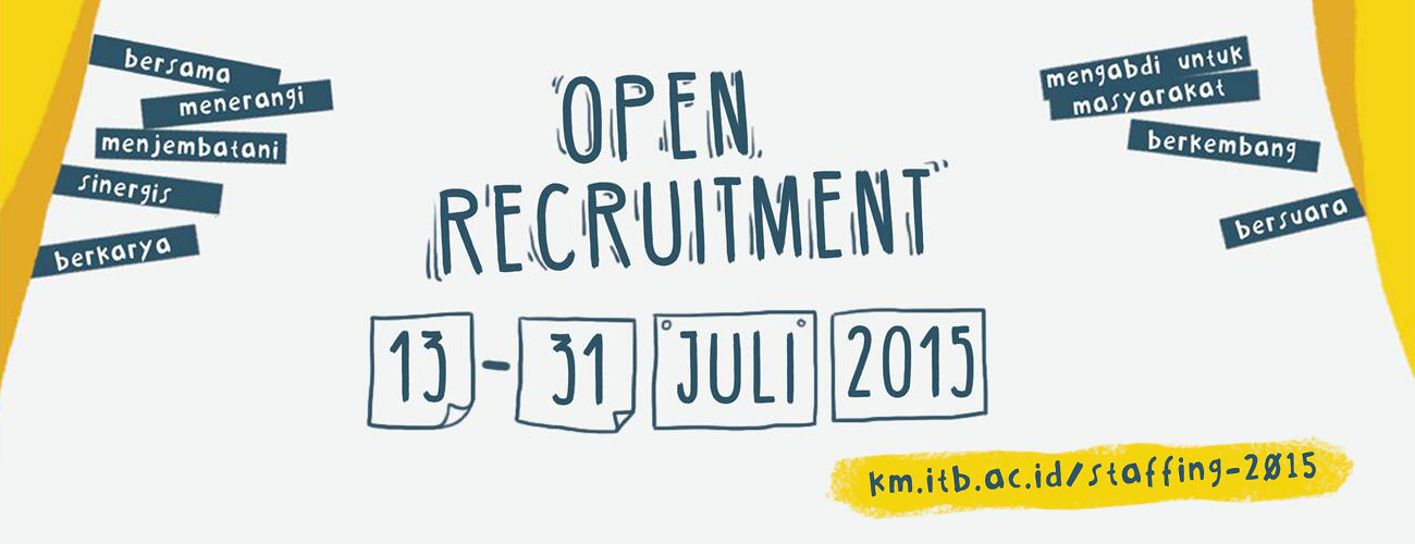 Open recruitment KM ITB 2015