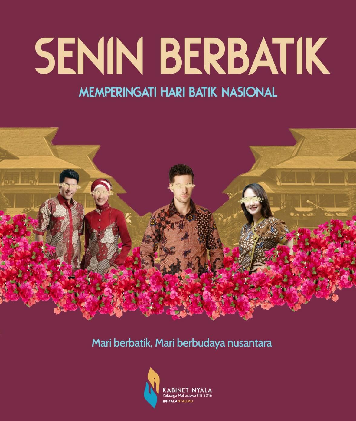 """Warta Budaya: Merayakan Hari Batik 2016 Melalui  """"Senin Berbatik"""""""