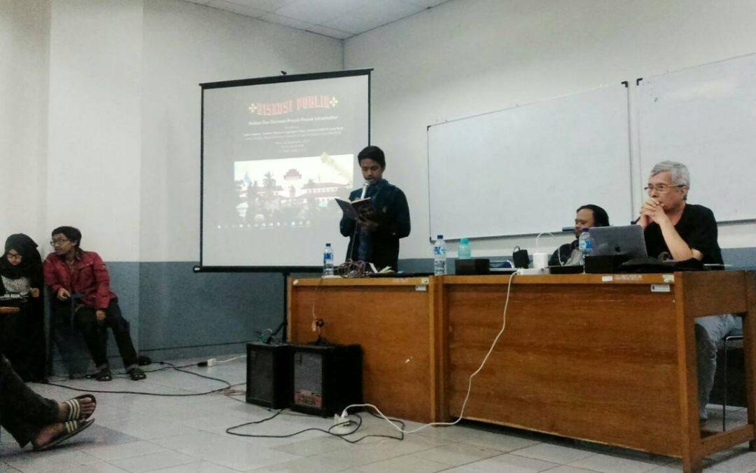 Diskusi Publik: Infrastruktur