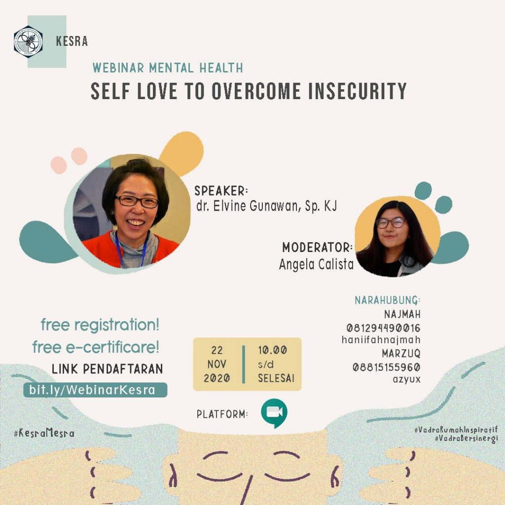 Webinar Mental Health: Self Love To Overcome Insecurity