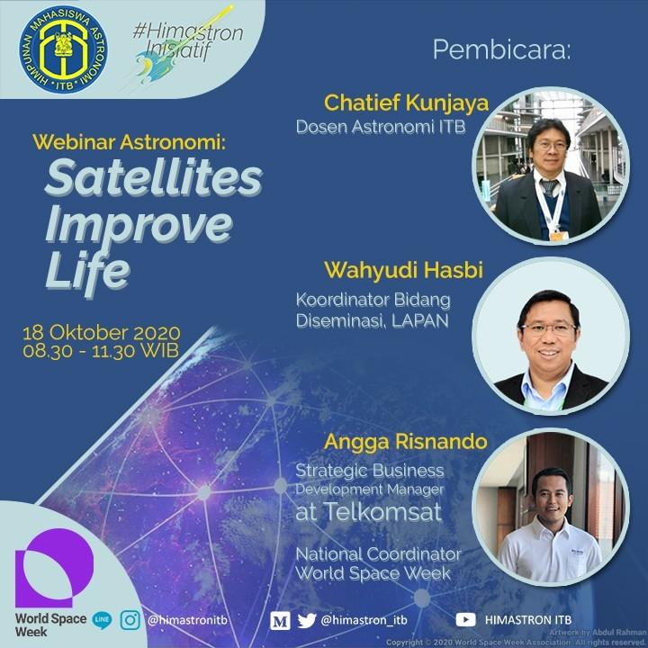 Webinar Astronomi: Satellites Improve Life