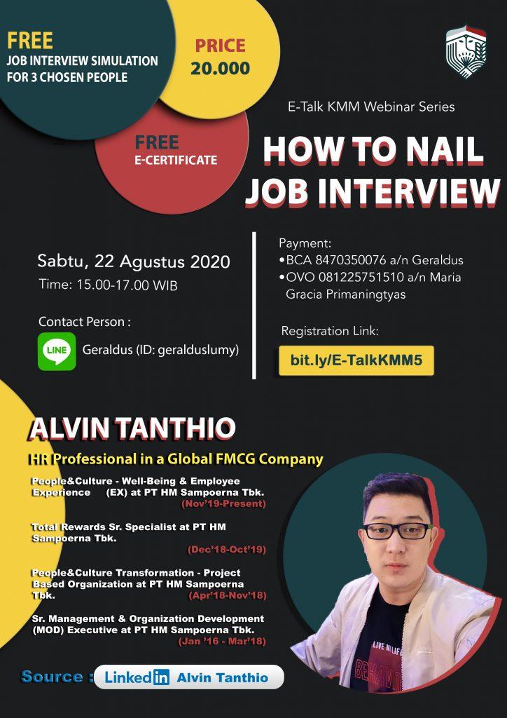 E-Talk KMM Webinar Series: How to Nail Job Interview