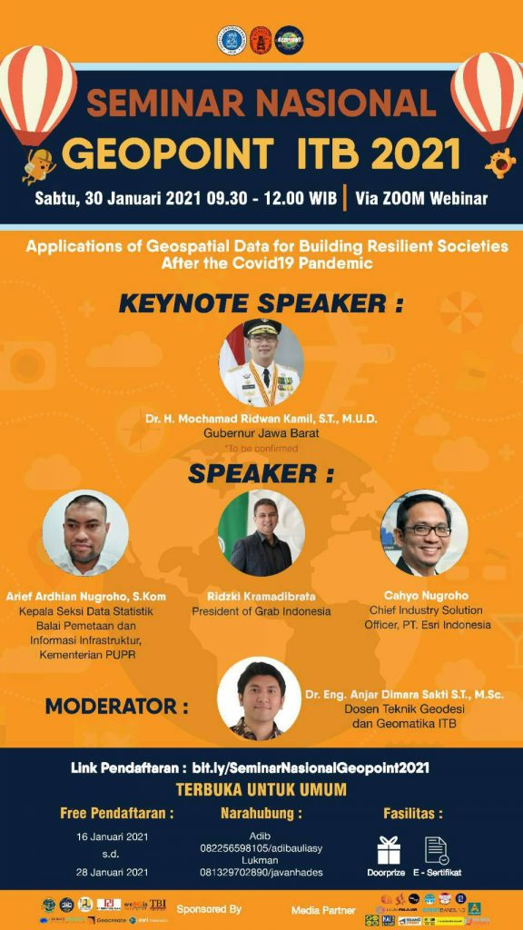 Seminar Nasional Geopoint 2021: Application of Geospatial Data for Building Resilient Societies After the COVID19 Pandemic