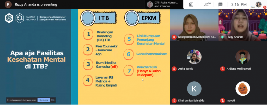 Kelas EPKM x Riliv dan Launching Fasilitas Kesehatan Mental